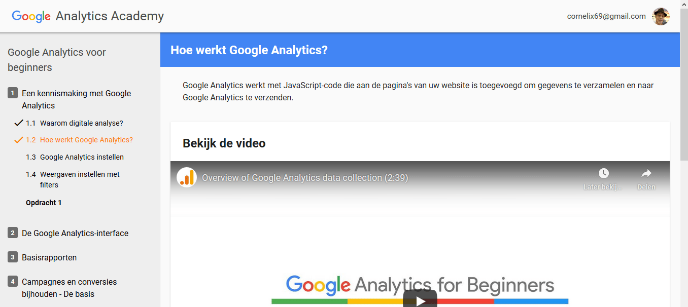 Google Analytics Academy | Zoekmachine Optimalisatie